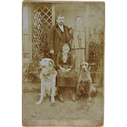 Cabinet Photograph Austrian Family With Dogs