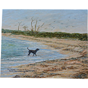 Labrador Oil Painting ~ Captain's Dog Yankee Freedom