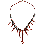 Beautiful Tahitian Pearl & Branch Coral Necklace