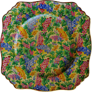Royal Winton Square Luncheon Plate ~  Somerset Pattern