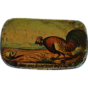 """Antique 19C Papier Mache Snuff Box ~ """"Does Your Mother Know You Are Out"""""""