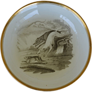Antique Greyhound Bat Printed Spode Saucer