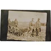 WW1 AZO RPPC Postcard ~ French War Dogs