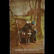 WW1 French Postcard ~ Red Cross Dog C1918