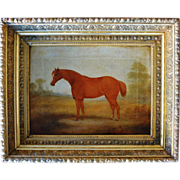 "SOLD Antique Horse Oil Painting ~ Titled, ""My Mary"" ~ C1860"