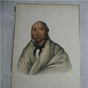 McKenney & Hall 1858 Indian Print Little Crow Sioux