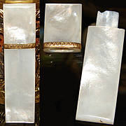 SALE Fine Antique French Palais Royal Mother of Pearl Needle Case