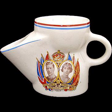 Vintage 1937 King George VI & Elizabeth Coronation Scuttle Cup
