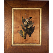 SALE Antique French Trompe L'oeil Oil Painting on Board, Still Life Fruits of the ...
