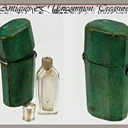 SOLD RARE 1780-1820 Antique Shagreen Etui, Scent or Salts Bottle
