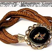 SALE RARE Antique Micro Mosaic Bracelet Clasp, Hair Armband - Unique, Victorian Treasure