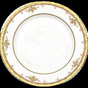"""SALE Fine Vintage Haviland Limoges Marked 5pc  9 3/4"""" Plate Set"""