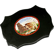 SALE Antique Grand Tour Micro Mosaic Plaque, The Coliseum, Rome - Micromosaic in Pristine Cond