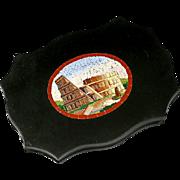 SALE Antique Grand Tour Micro Mosaic Plaque, The Coliseum, Rome - Micromosaic in Pristine ...