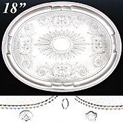 "SOLD Large Antique Austrian Hallmarked 800 (nearly sterling) Silver 18"" x 14"" Tea or"