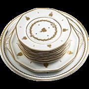 SALE Napoleon Bee in Gold, Vintage Capodimonte Dessert Set,
