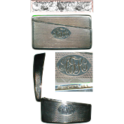 SALE Antique Whiting & Co. Sterling Silver Calling Card Case, 1870-1910