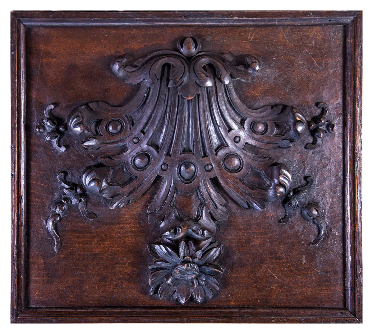Amazing photo of  Hand Carved Wood Plaque Panel for Cabinetry or Frame 14 x 12