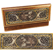 SOLD Antique French Glove Box, Jewelry Casket, Intaglio Engraved Grotesques