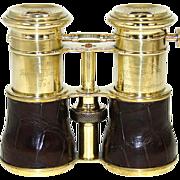 "SOLD Rare Antique English Triple Optic Binoculars, Opera Glasses: 1864 Trophy, ""Theatre,"
