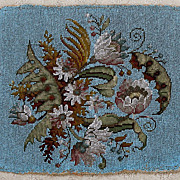 SALE Fine Victorian Beaded Needlepoint, Beadwork Panel - Perfect to use in making throw pillow