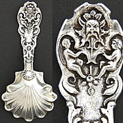 SOLD Vintage Italian .800 Silver Tea or Caviar Scoop, Figural Handle