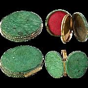 SALE Antique Georgian Shagreen Locket, Portrait Miniature Etui