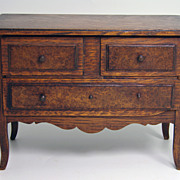 SALE Antique French Apprentice Made Miniature Chest, Dresser in French Oak - Perfect for Doll