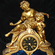 French Spelter Napoleon lll  Clock