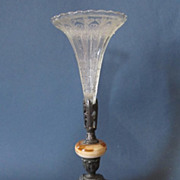 SALE French Dore Bronze and Glass Epergne