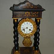 SALE 19thc French Napoleon lll  Marquetry Clock