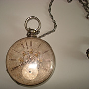 SALE Sterling Tobias Nautical  Pocket Watch