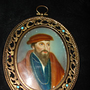 SALE Miniature Portrait King James Of Scotland