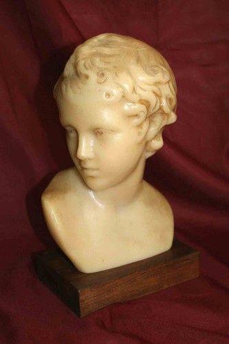 French Wax Sculpture of Young boy