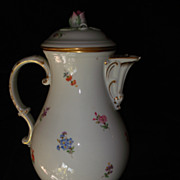 SALE Volkstedt China Hand painted Chocolate Pot