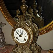 Vintage French Bronze Cartel Clock