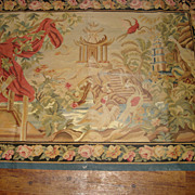 SALE Antique French Aubosson Tapestry