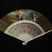 Antique Hand Painted Signed LaVenoilla-Goya Spanish Fan