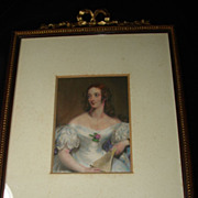 SALE Original English Engraving  Aquatint Mrs. Fairlie  c1837