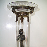 Rare French Crystal Figural Center Piece