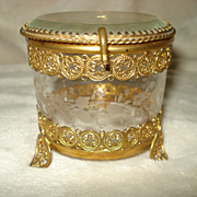 SALE French Ormolu and Crystal Box