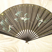 SALE Hand Painted French Hand Fan