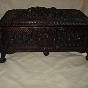 SALE Black Forest Large Hand Carved Box