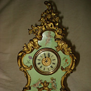 SALE French Louis XV Cartel Hand Painted Cherub Clock