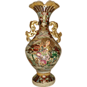 SALE Royal Satsuma Figural Vase