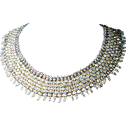 SALE AB Swarovski Crystal Collar Necklace