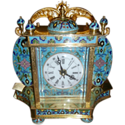 SALE Cloisonne Porcelain Portrait Clock