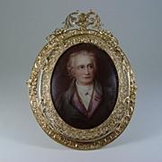 SALE Miniature Portrait Of Johann Wolfgang von Goethe