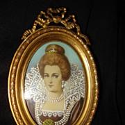 SALE Miniature Portrait Of  Maria De Medici