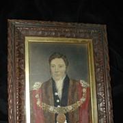 SALE English School Hand Painted Portrait Of Important Gent